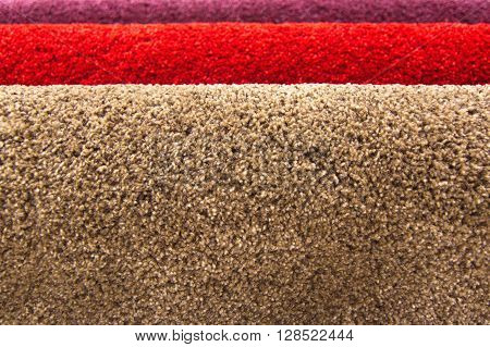 Closed up texture of carpet for home or office