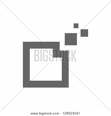 Just be creative abstract design geometric polygon cube logo icon on the white background