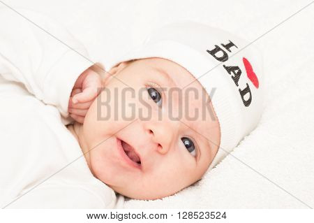 Baby in the cap with