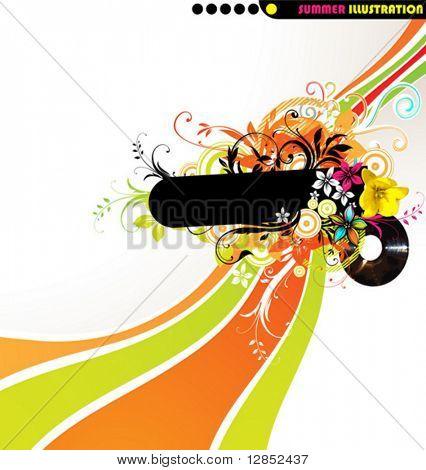 Abstract summer illustration for design.