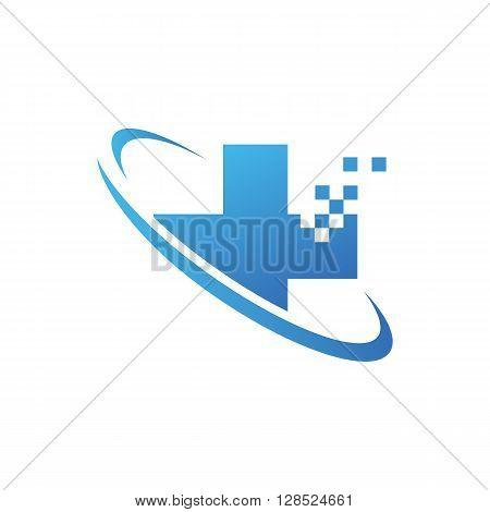 Medical pharmacy logo design template on the white background.- vector illustrator