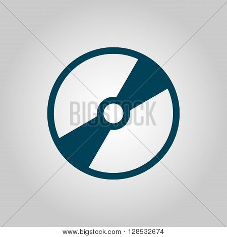 Cd Icon In Vector Format. Premium Quality Cd Symbol. Web Graphic Cd Sign On Grey Background.