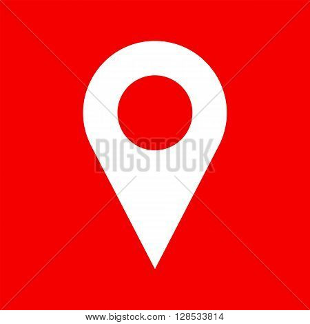 Vector map pin icon. Map pin icon symbol. Flat map pin icon for website print business card design. Simple shape. Vector pointer for gps navigation apps. Marker for map. Vector web icon.