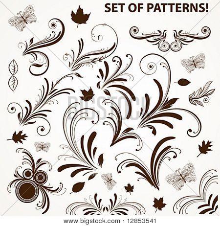 Set of vector patterns for design.