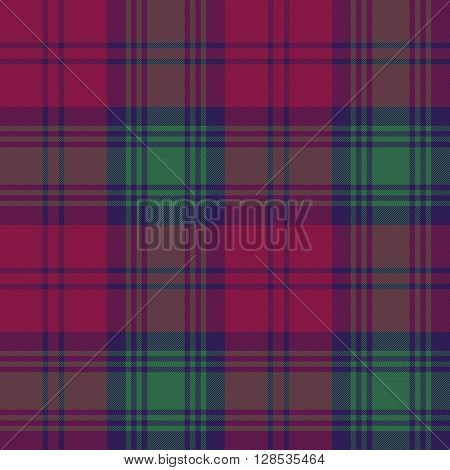 Lindsay tartan fabric texture check pattern seamless.Vector illustration. EPS 10. No transparency. No gradients.