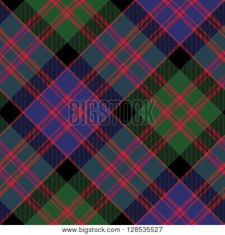 Macdonald tartan kilt fabric diagonal texture check seamless pattern.Vector illustration. EPS 10. No transparency. No gradients.