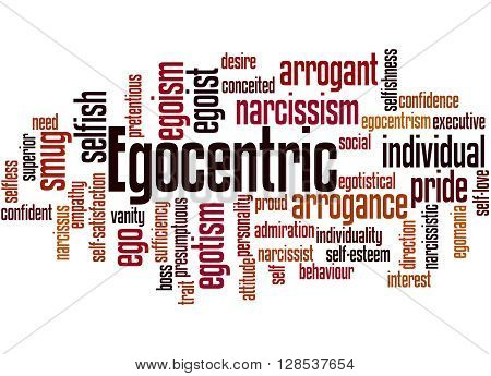 Egocentric, Word Cloud Concept