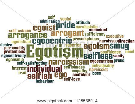 Egotism, Word Cloud Concept 9