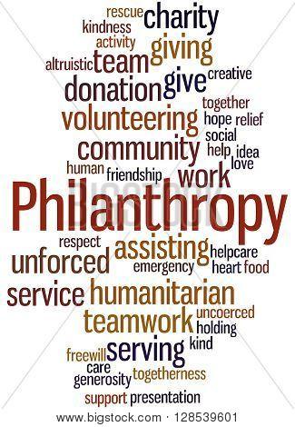 Philanthropy, Word Cloud Concept 10