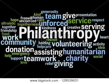 Philanthropy, Word Cloud Concept 4