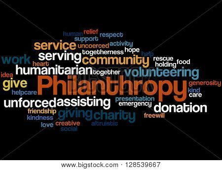 Philanthropy, Word Cloud Concept 6
