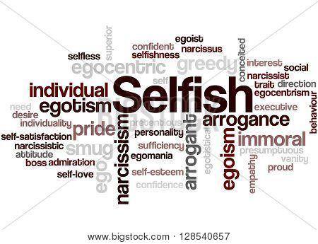 Selfish, Word Cloud Concept 2