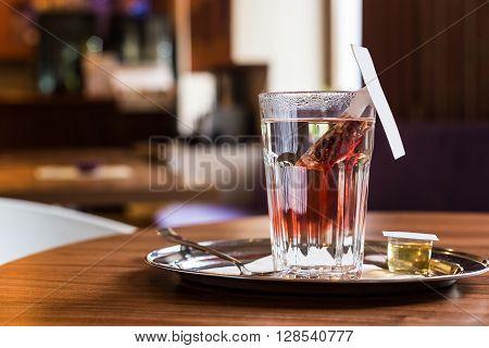 Red Fruit Tea In Tearoom