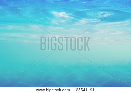 Blurred sea shallow under water for background