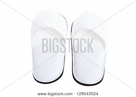 Hotel Spa wellness or hospitality slippers isolated on white background