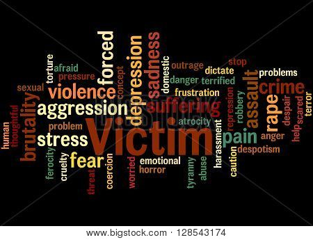 Victim, Word Cloud Concept 9