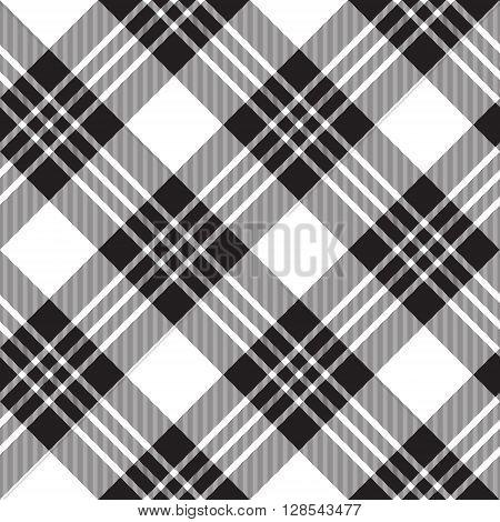 Macgregor tartan diagonal background pattern seamless.Vector illustration. EPS 10. No transparency. No gradients.
