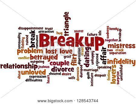 Breakup, Word Cloud Concept 6