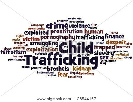 Child Trafficking, Word Cloud Concept 9