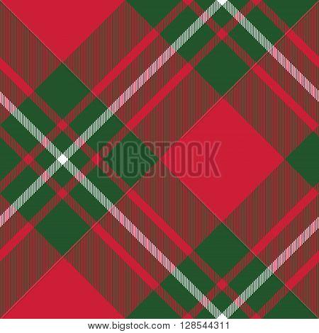 Macgregor tartan kilt fabric textile diagonal seamless pattern.Vector illustration. EPS 10. No transparency. No gradients.