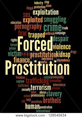 Forced Prostitution, Word Cloud Concept 5