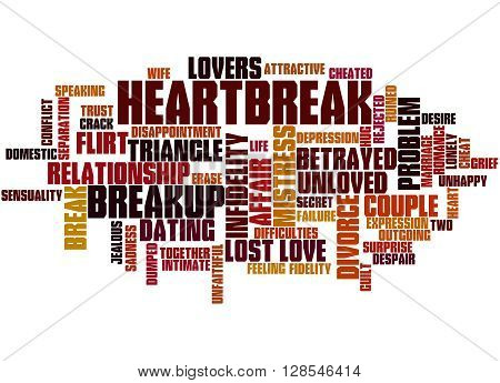 Heartbreak, Word Cloud Concept 9