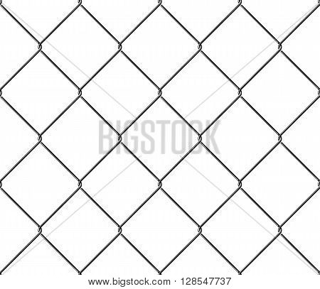 Seamless texture metal mesh fence. Vector illustration. EPS 10. No transparency. No gradients. Raw materials are easy to edit.