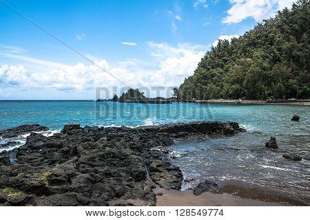The coast along the road to Hana, Maui, Hawaii