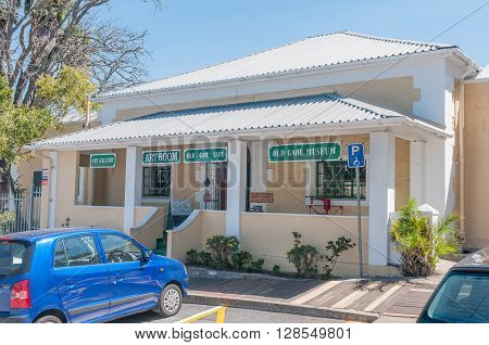 KNYSNA SOUTH AFRICA - MARCH 3 2016: The Old Gaol was the first building erected by the Colonial Government in Knysna and was built in 1859