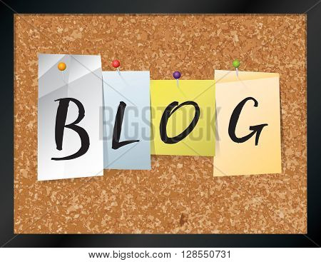 Blog Bulletin Board Theme Illustration