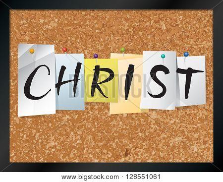 Christ Bulletin Board Theme Illustration