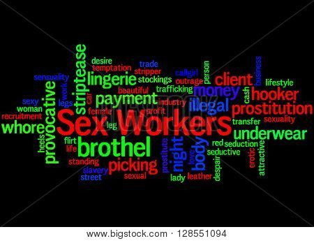 Sex Workers, Word Cloud Concept 7