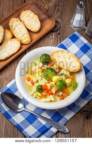 Bowl Of Minestrone Soup.