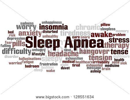 Sleep Apnea, Word Cloud Concept 8