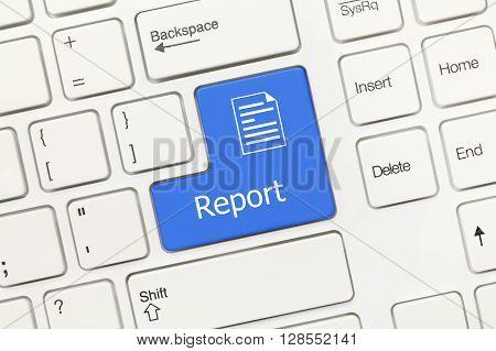 White Conceptual Keyboard - Report (blue Key)