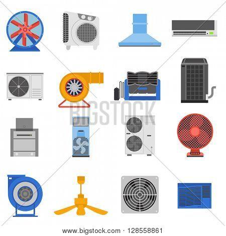 Ventilation vector illustration.