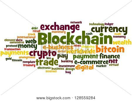 Blockchain, Word Cloud Concept 2
