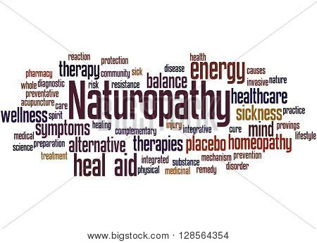 Naturopathy, Word Cloud Concept