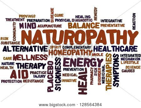 Naturopathy, Word Cloud Concept 2