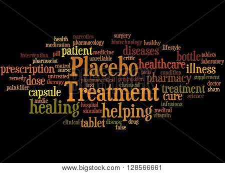Placebo Treatmen, Word Cloud Concept 8