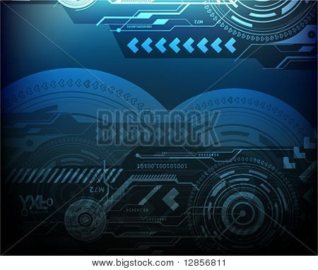 Techno background. eps10