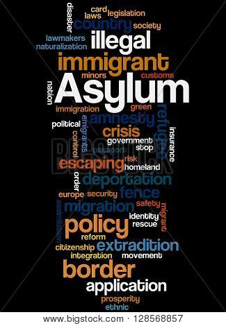 Asylum, Word Cloud Concept 8