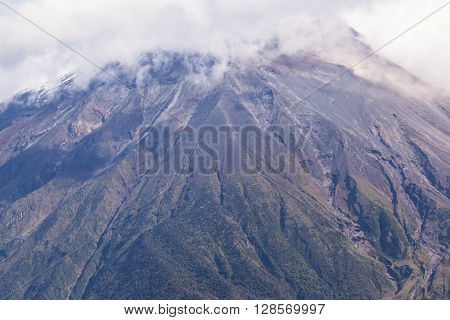 Powerful Day Explosion Of Tungurahua South America