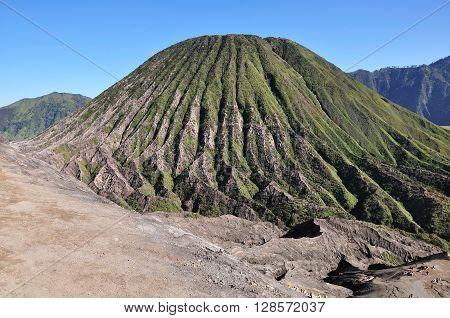 View of Mount Batok in Bromo Tengger Semeru national park East java Indonesia.