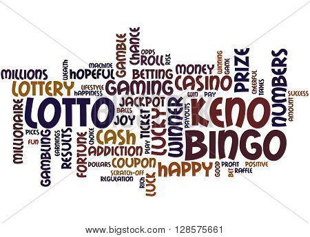 Lotto Bingo Keno, Word Cloud Concept 2