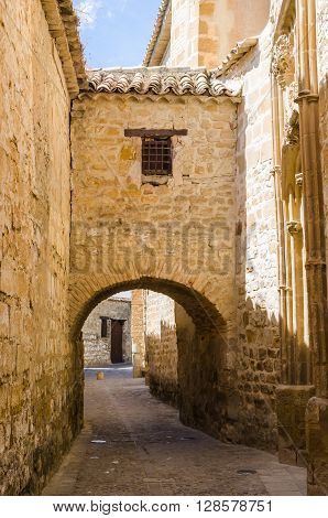 Ancient Street With Arc In Baeza