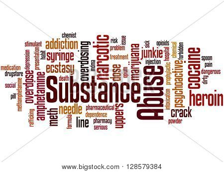 Substance Abuse, Word Cloud Concept