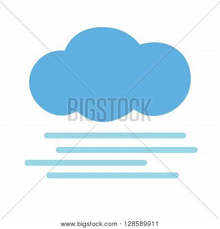 Flat icon foggy weather. Web icon. Vector illustration.