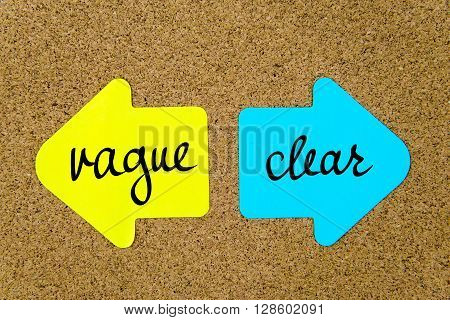 Message Vague Versus Clear