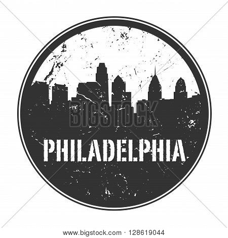 Grunge rubber stamp or emblem with name of Pennsylvania, Philadelphia, vector illustration